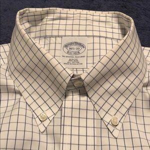 Brooks Bros: 16.5x33 Slim Fit dress shirt/ cotton